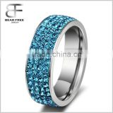 High Quality Stainless Steel Unisexs' Wedding Ring for Women Cubic Zirconia
