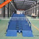 Heavy duty warehouse hydraulic mobile loading ramp for truck