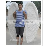 beautiful white feather angel wings costume with elastic straps                                                                         Quality Choice