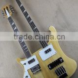 Weifang Rebon Double neck Ricken Left hand electric guitar/electric bass guitar/guitar