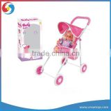 WW3608714 Cotton Doll And Sunshade Baby Cart