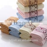 100% cotton yarn dyed jacquard towel set in stock promotion