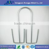 U-shape staples carbon steel zinc plate metal pins
