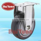 Stainless Steel Fixed Castor with POLYURETHANE Wheel