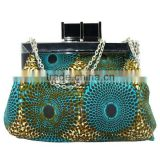 luxury fashion stylish fabric clutch bag, wax evening party bag