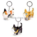 Cute Cat Kitten Style Animal Keychain Vinyl Toy Keychain Custom Color                                                                         Quality Choice