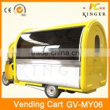 popular China mobile fried chicken food trailer with fridge, ice cream making machine, and sugarcane juicer machine
