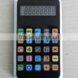 MANUFACTURER new design promotion gift mini pocket touch color screen rubber iphone calculator