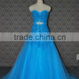 (MY0088) MARRY YOU China Factory Custom Made Ice Blue Lace Country Western Wedding Dress 2016