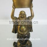 Bronze resin laughing buddha figurine home&office decor/souvenir gift/fengshui craft