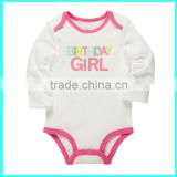 High quality child wear, children romper plain white - Girl birthday