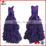 Girl dresses flower girl dress purple ball gown dress for girls dress new model girl dress