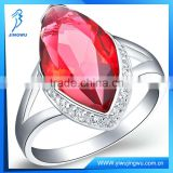 2014 white gold ruby ring with AAA diamond
