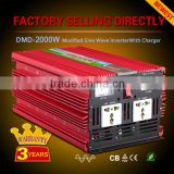 High frequency off grid single phase dc to ac 12v 220v car 2000w power inverter with charger