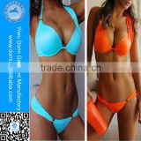 Two piece extreme push up bikinis beautiful women sexy bathing suit
