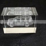 Transparent Laser Engraved Car Crystal For Baby Favors