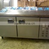 Chinese manufacturer sanye fresh-keeping work table stainless steel display cabinets