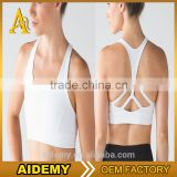 Custom fitness sportswear women sports bra wholesale padded branded yoga bra
