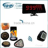 wireless paging transmitter, wireless queuing pager system, wireless restaurant call button pager