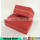 Melors Wholesale Yoga Block eva yoga brick /High Density Eva Rubber Logo Imprinted Easy Use Yoga Block Lightweight Foam Blocks