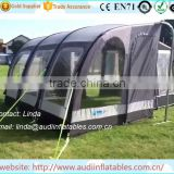Durable inflatable awning for camping use