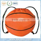 Drawstring basketball backpack bag