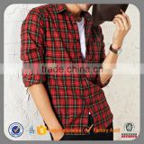 long sleeve cotton wholesale flannel red and black plaid shirt