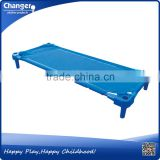 nice plastic folding kids bed for kindergarden children