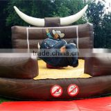 adult inflatable rodeo bull 5.5m Diamter inflatable air bounce floor for Mechanical bull