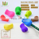 Wholesale kids silicone pencil grip rubber pencil grips soft touch handwriting Aid children writing