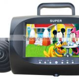 Cheap 7 inch Portable DVD Player with LED Back Light and Game Function and TV Tunner Function
