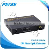 Factory price DVI to fiber converter optical audio video transmitter receiver with KVM control