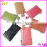 Hot Women Zipper Tassel Genuine Cowhide Leather Clutch Wallet Case Lady Long Handbag Wallet And Purses New