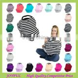4 in 1 Stretchy Carseat Canopy Privacy Nursing Cover Baby Car Seat Cover