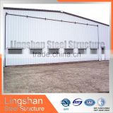 Pre-engineering light steel frame aircraft hangar with SGS