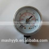 best widely used plating plastic rotational biogas pressure gauge