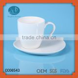 promotional custom logo white ceramic mug,Eco-Friendly Feature and Cups & Saucers Drinkware Type coffe cups and plate