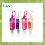 Bulk alcohol small portable gel hanging hand sanitizer waterless anti-bacterial bulk silicone holder