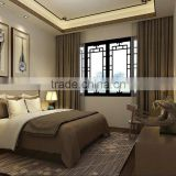 BISINI Chinese Style Wood Bedroom Design in Villa