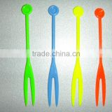 plastic mini fruit fork/picks