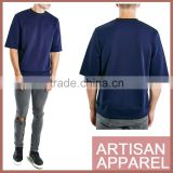 2016 Navy Bonded Turtle Neck T-Shirt dark blue zip t shirt for man wholesale