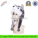 Oem Long Eared Animal Hats With Paws Wholesale Faux Fur Animal Hat Winter Animal Hat IN STOCK