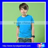 2015 Hot selling Kids Boys plain blank o neck short sleeve cotton kids t shirt wholesale