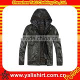 2013 OEM hot sale cheap comfortable high quality with hood mens fashion biker leather jacket