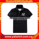 Wholesale trendy black short sleeve print casual men plain polo t-shirts clothing suppliers china