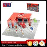 Newest intelligent alloy series toys Alloy fire station play set 2016 for kids