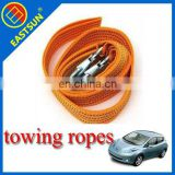 EASTUN 3 Tons Tow Cable Towing Rope with Hooks for Heavy Duty Car Emergency Pulling Rope