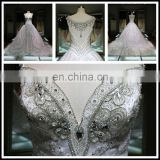 2017 Luxury Hot Drilling Diamond Handmade Heavy Beading Wedding Dress Bling Bling Bling Tiamero 1A843