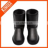 leather snow black boots
