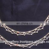 Silver plated wedding anklets manufacturer, silver plated bridal ankle bracelets exporter